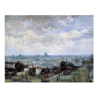 View of the Roofs of Paris Van Gogh Fine Art Postcard