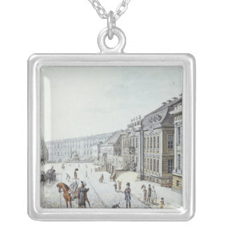 View of the Royal Palace, Berlin Silver Plated Necklace