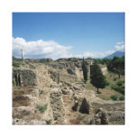 View of the ruined city canvas print