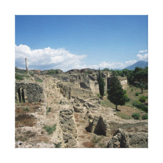 View of the ruined city gallery wrapped canvas