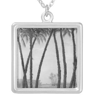 View of the ruins Memphis seen from south east Personalized Necklace
