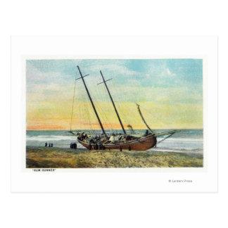 View of the Rum Runner Ship Ashore Postcard