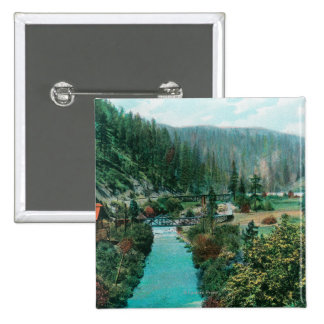 View of the Sacramento River Canyon on SP Pinback Button