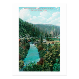 View of the Sacramento River Canyon on SP Postcard