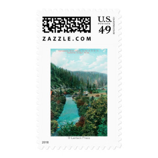 View of the Sacramento River Canyon on SP Stamps