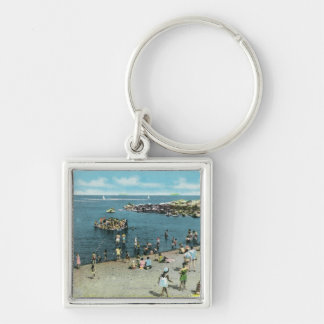 View of the Salem Willows Beach Keychain