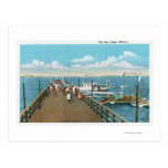 View of the Salem Willows Pier Postcard