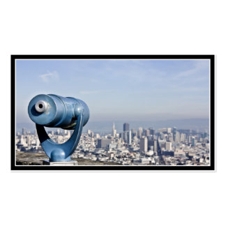 View of the San Francisco  (City Blurred) Double-Sided Standard Business Cards (Pack Of 100)