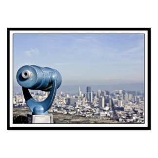 View of the San Francisco  (City Blurred) Large Business Cards (Pack Of 100)