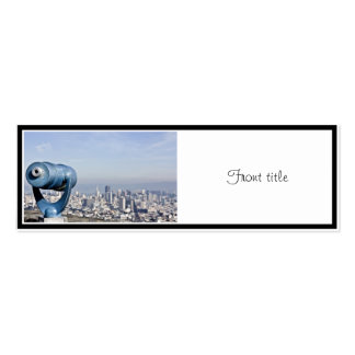 View of the San Francisco  (City Blurred) Double-Sided Mini Business Cards (Pack Of 20)