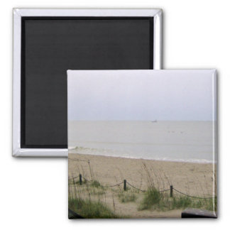 View of The Sea 2 Inch Square Magnet