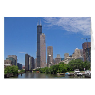 View of the Sears Tower from the Chicago River Greeting Card