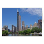 View of the Sears Tower from the Chicago River Stationery Note Card