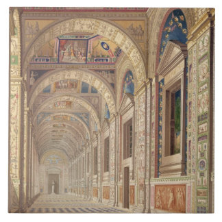 View of the second floor Loggia at the Vatican, wi Ceramic Tile