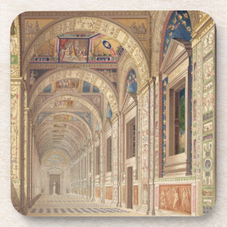 View of the second floor Loggia at the Vatican, wi Drink Coaster