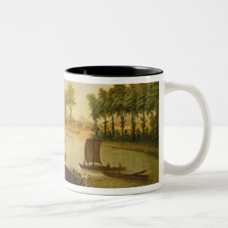 View of the Shepperton on the River Thames, after Two-Tone Coffee Mug