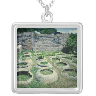View of the shops silver plated necklace