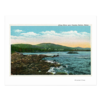 View of the Shore near Camden Harbor Postcard