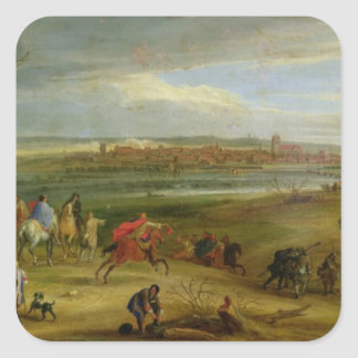 View of the Siege of Dole Square Sticker