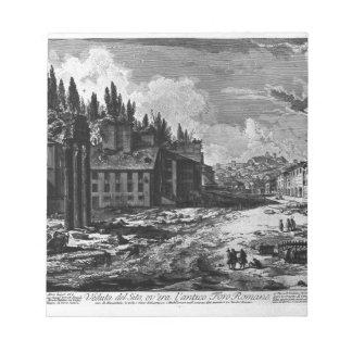View of the site where was the ancient Roman Forum Notepad