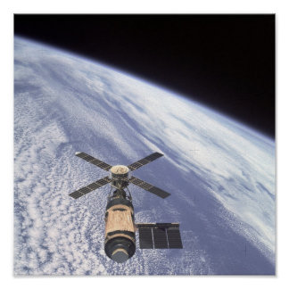 View of the Skylab Space Station Poster