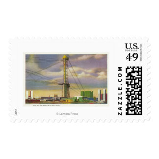 View of the Social Science and Sky Ride Postage