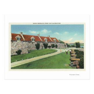 View of the South Barracks from the Flag Postcard