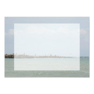 View of the South Jetty Inlet 5x7 Paper Invitation Card