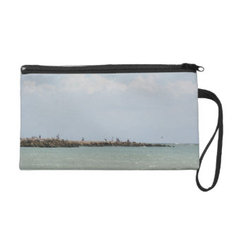 View of the South Jetty Inlet Wristlet Purse
