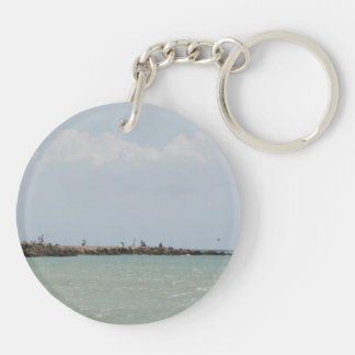 View of the South Jetty Inlet Keychain