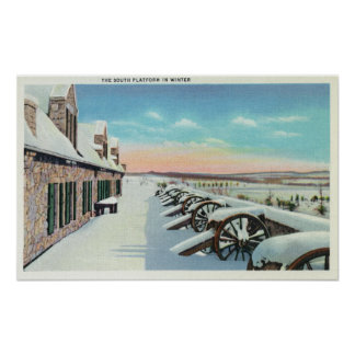View of the South Platform in Winter Poster