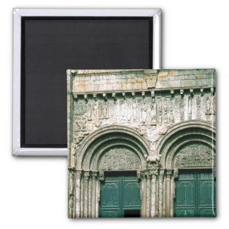 View of the south transept portal  c.1100-04 refrigerator magnet