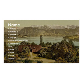 View of the southern chain of Alps, with the Titli Business Cards