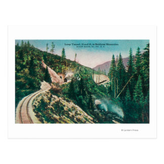View of the Southern Pacific Railroad Loop Tunne Postcard