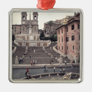 View of the Spanish Steps or Scalinata Metal Ornament