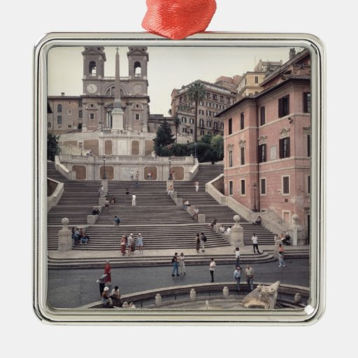 View of the Spanish Steps or Scalinata Christmas Tree Ornament