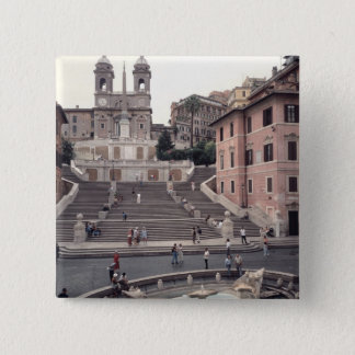 View of the Spanish Steps or Scalinata Pinback Button