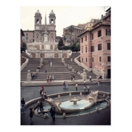 View Of The Spanish Steps Or Scalinata Postcard