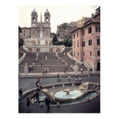 The Spanish Steps, Rome   Childe Hassam Postcard | Zazzle.com