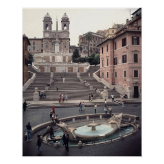 View of the Spanish Steps or Scalinata Poster