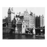 View of the Speicherstadt  Hamburg, c.1910 Postcard