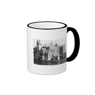 View of the Speicherstadt  Hamburg, c.1910 Ringer Mug
