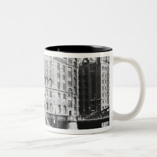 View of the Speicherstadt  Hamburg, c.1910 Two-Tone Coffee Mug