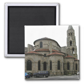 View of the spire of the church (photo) 2 inch square magnet