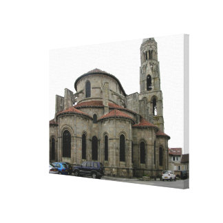 View of the spire of the church (photo) canvas print