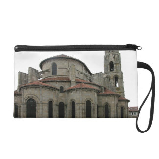 View of the spire of the church (photo) wristlet purse