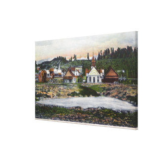 View of the Springs and Town Stretched Canvas Print