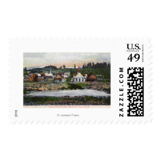 View of the Springs and Town Postage Stamp