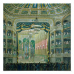View of the Stage of the Paris Opera Poster