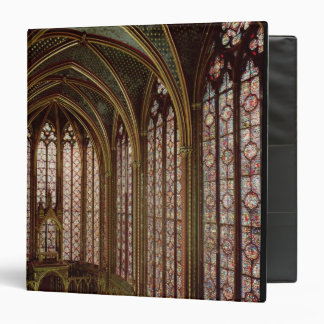 View of the stained glass windows 3 ring binder